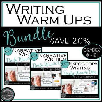 Daily Editing Writing Warm Ups {Bundle!} Sets 1, 2 & 3 {Google Drive & OneDrive}