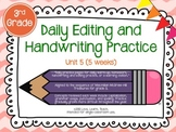 Daily Editing and Handwriting Practice (Unit Five) - Treas