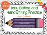 Daily Editing and Handwriting Practice (Unit Three) - Trea