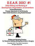 Daily Editing and Revising Bundle Set (DEAR DOC 1-8)