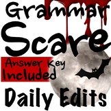 Daily Edits: Grammar Scare Halloween Class Starters for October!