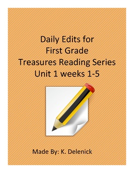 Daily Edits Unit 1 Treasures Reading Series