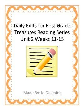 Daily Edits Unit 3 Treasures Reading Series