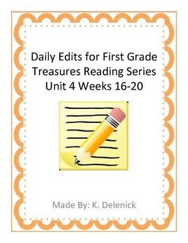 Daily Edits Unit 4 Treasures Reading Series