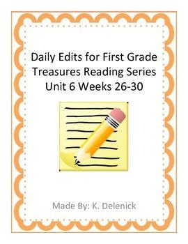 Daily Edits Unit 6 Treasures Reading Series