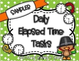 Daily Elapsed Time Tasks PRINT AND GO {FREE SAMPLER}