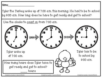 Daily Elapsed Time Tasks PRINT AND GO {FREE SAMPLER}
