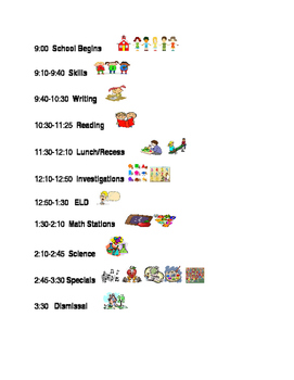 Daily Elementary Schedule