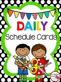 Daily Elementary Schedule Cards