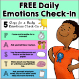 Daily Emotions Check-in Poster - Distance Learning