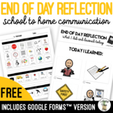 Daily End Of Day Reflection - School to Home Communication