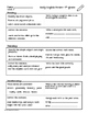 Daily English Review Weeks 7-12 4th Grade