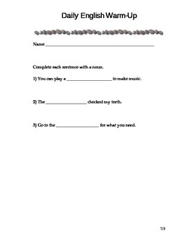 Daily English Warm-Up D