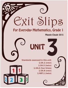 Exit Slips for Everyday Mathematics, Grade 1 Unit 3