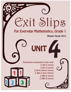 Exit Slips for Everyday Mathematics, Grade 1 Unit 4
