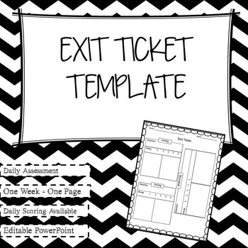Daily Exit Ticket Template