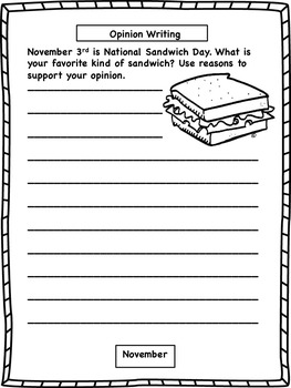 Daily Fall Writing Prompts and Printables