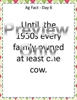 Daily Farm Facts for all Grades! 1st Edition