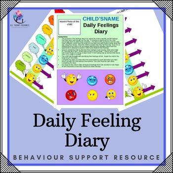 Daily Feelings Diary - Editable