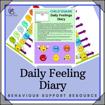 Daily Feelings Diary - Editable