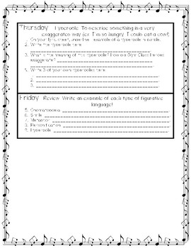 """Daily Figurative Language Practice with """"Stereo Hearts"""" by: Gym Class Heroes"""