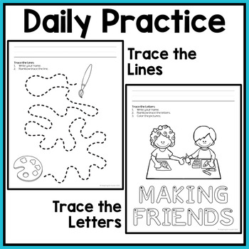 Back to School Fine Motor Activities: Daily Pre-writing & Tracing Practice