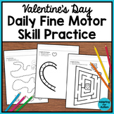 Valentine's Day Fine Motor Worksheets for Special Education and Autism