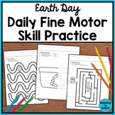Earth Day Fine Motor Worksheets for Special Education and Autism
