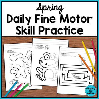 Spring Fine Motor Activities: Daily Pre-writing & Tracing Practice