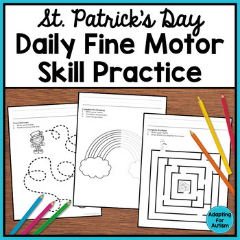 St. Patrick's Day Fine Motor Activities: Daily Pre-writing & Tracing Practice