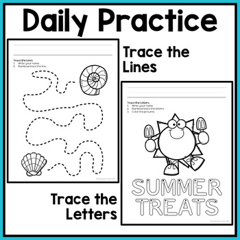 Summer Fine Motor Activities: Daily Pre-writing & Tracing Practice