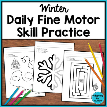 winter fine motor worksheets for special education and autism tpt. Black Bedroom Furniture Sets. Home Design Ideas