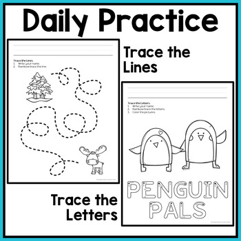 Winter Fine Motor Worksheets for Special Education and Autism