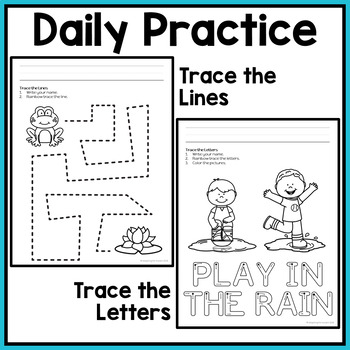 Fine Motor Activities: Daily Pre-writing and Tracing Practice Yearlong BUNDLE