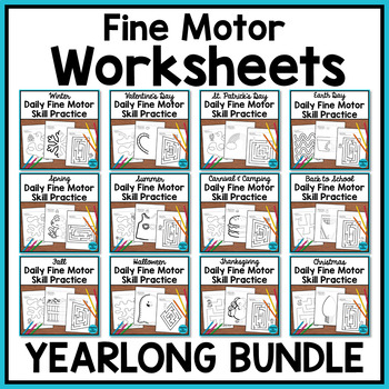Daily Fine Motor: Pre-writing and Tracing Practice BUNDLE