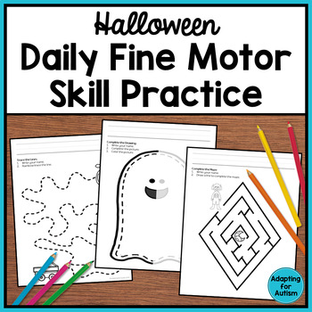 Daily Fine Motor: Pre-writing and Tracing Practice for October