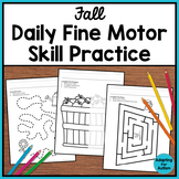 Fall Fine Motor Worksheets for Special Education and Autism