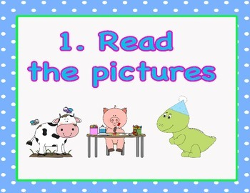 Daily Five 3 Ways to Read Chart Blue Polka Dot Theme