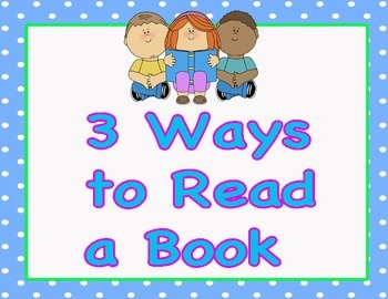 Daily Five 3 Ways to Read Chart Blue Polka Dot Theme