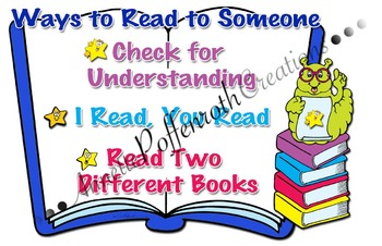 Daily Five- Ways to Read to Someone