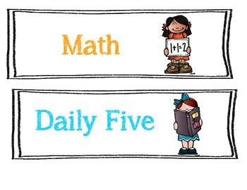 Daily Five (5) and Classroom Schedule Cards