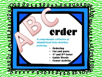 ABC Order Pack