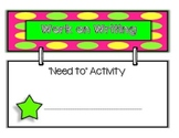 Daily Five Activity Charts