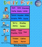 Daily Five Assignments Interactive Smartboard 12 Pages