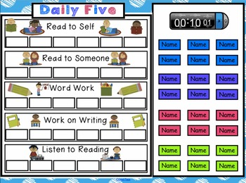 Daily Five Assignments Interactive Smartboard