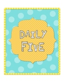 Daily Five Binders
