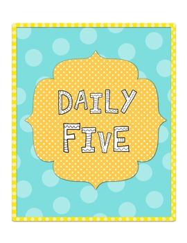 Daily Five Binders
