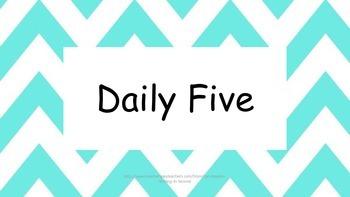 Daily Five- Blue Chevron