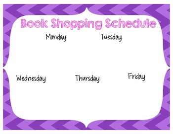 Daily Five Book Shopping Schedule