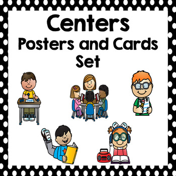 Daily Five Center Cards and Posters- Black and White